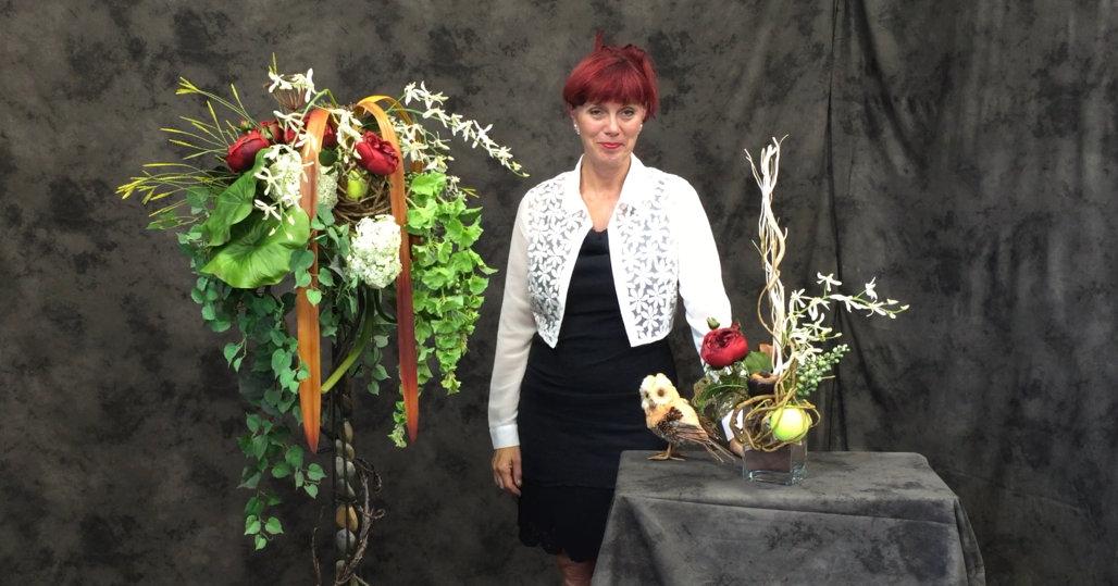 Du deuil avec des fleurs permanente